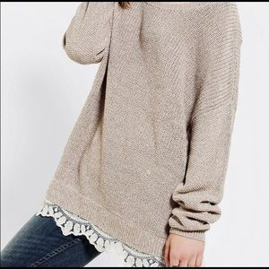 Urban Outfitters Pins & Needles lace trim sweater